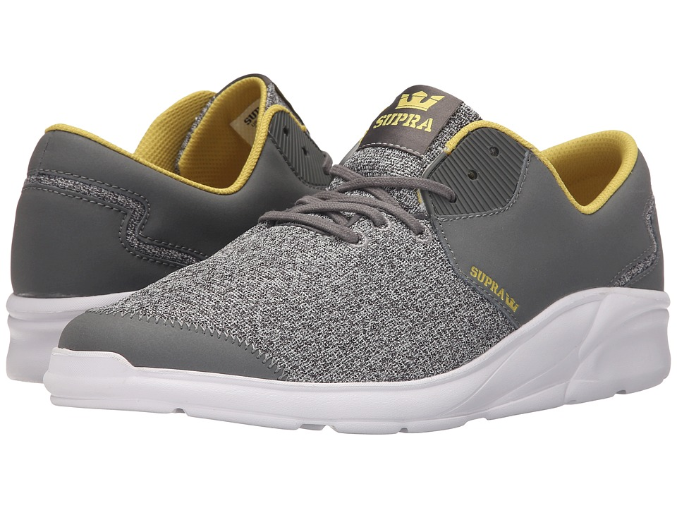 Supra - Noiz (Grey Heather/Charcoal/White) Men's Skate Shoes