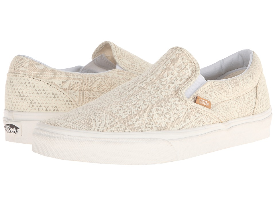 Vans - Classic Slip-On ((Pacific Isle) Natural/Blanc de Blanc) Skate Shoes