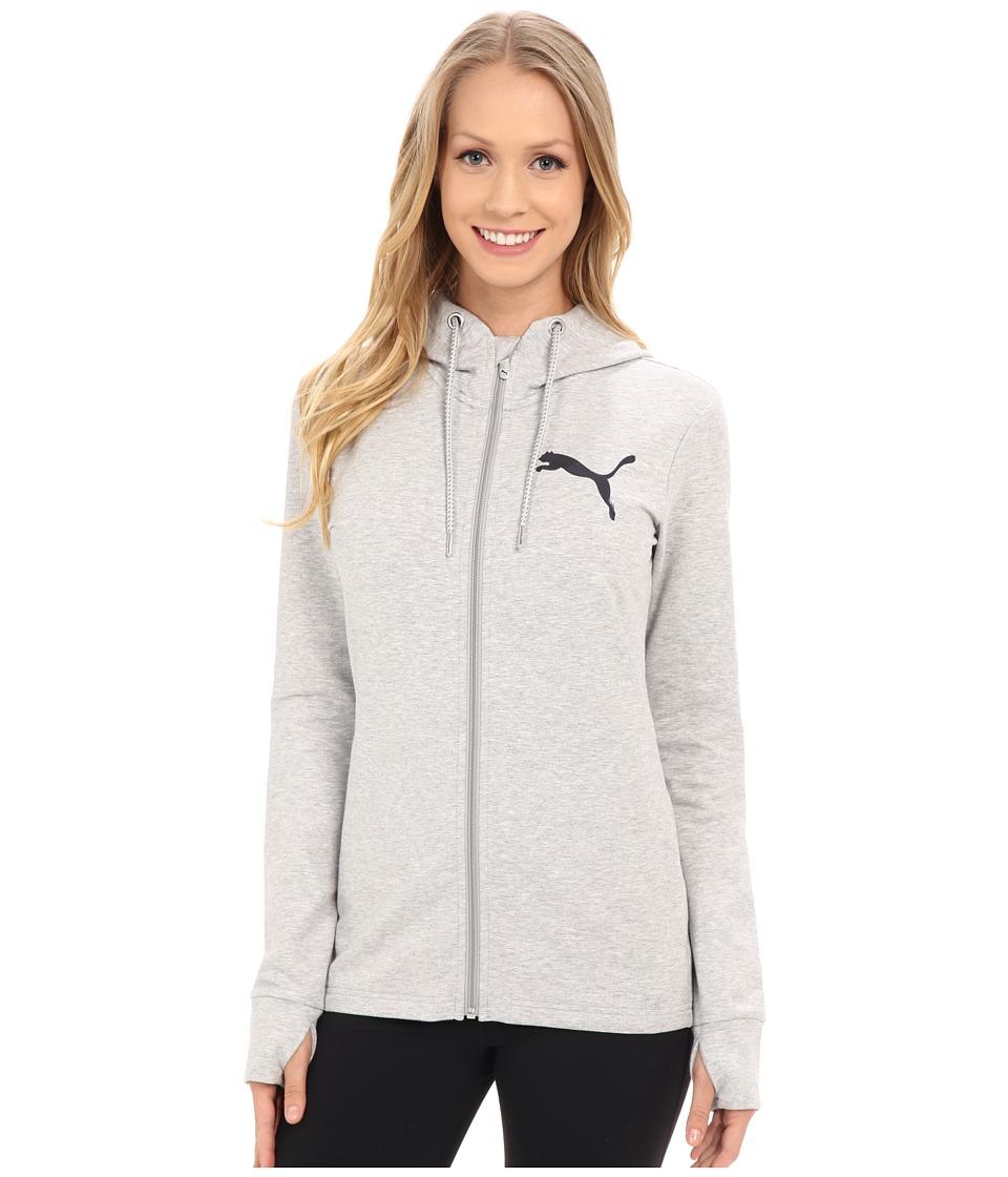 PUMA - Active Track Jacket (Light Gray Heather) Women's Sweatshirt