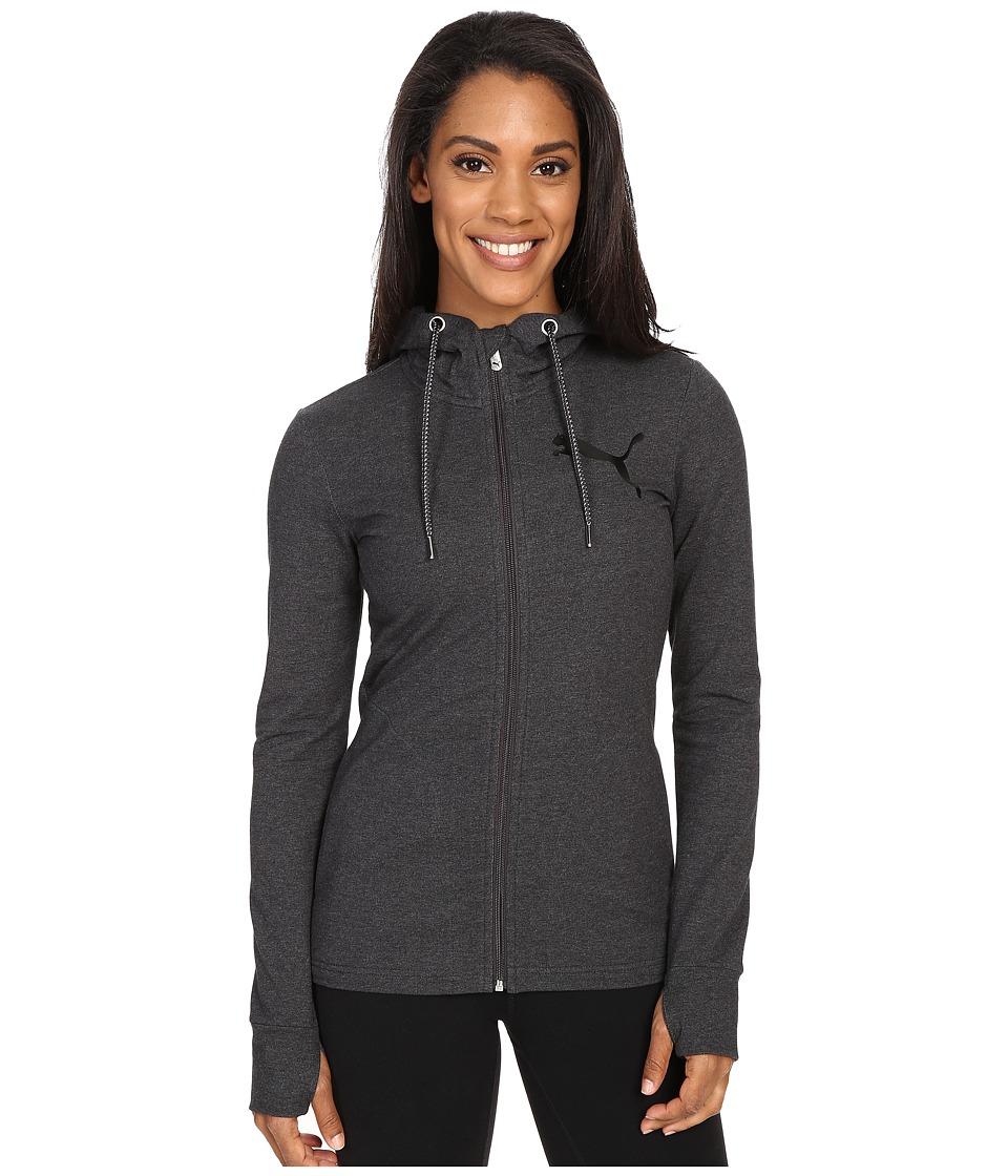 PUMA - Active Track Jacket (Dark Gray Heather) Women's Sweatshirt