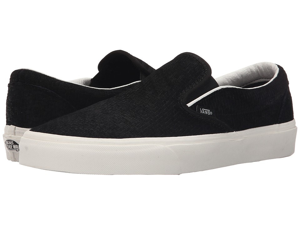 Vans - Classic Slip-On ((Braided Suede) Black) Skate Shoes