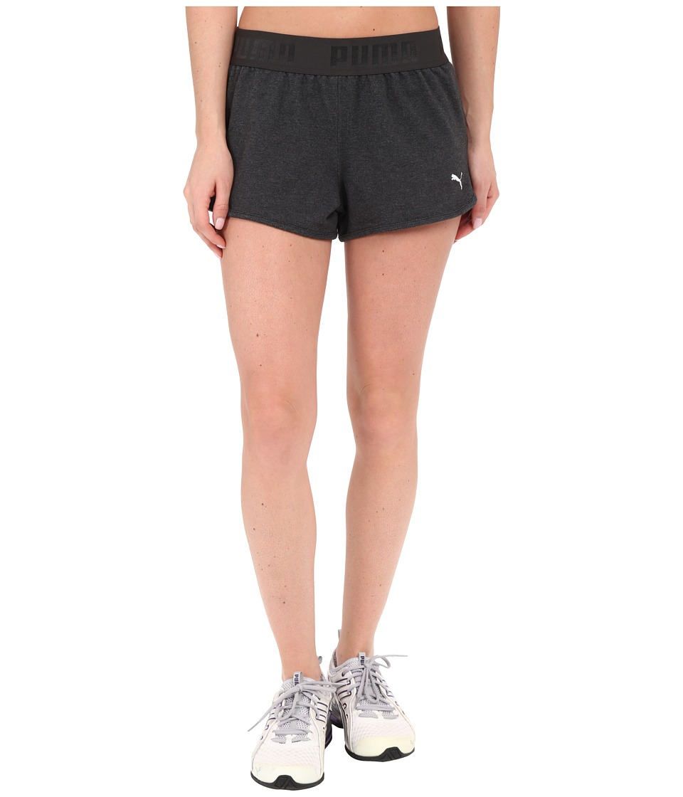 PUMA - Active Forever Shorts (Dark Gray Heather) Women's Shorts
