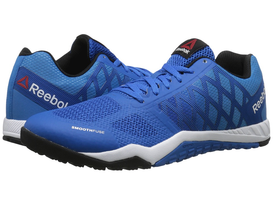 Reebok - Ros Workout TR (Blue Sport/Electric Blue/White/Black/Coal) Men's Cross Training Shoes