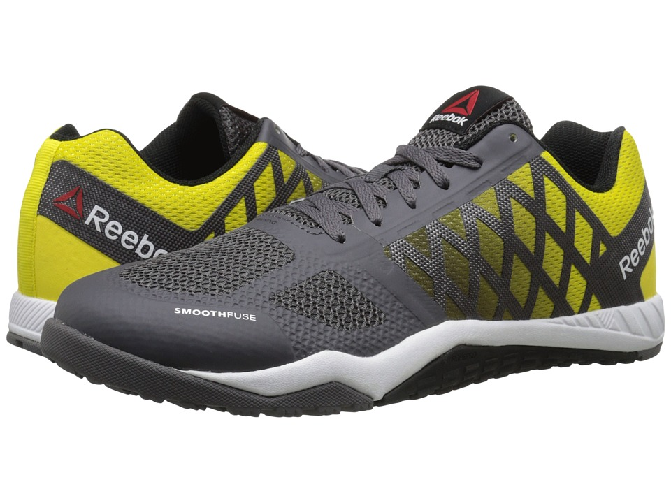 Reebok - Ros Workout TR (Ash Grey/Yellow Spark/Black/White) Men's Cross Training Shoes