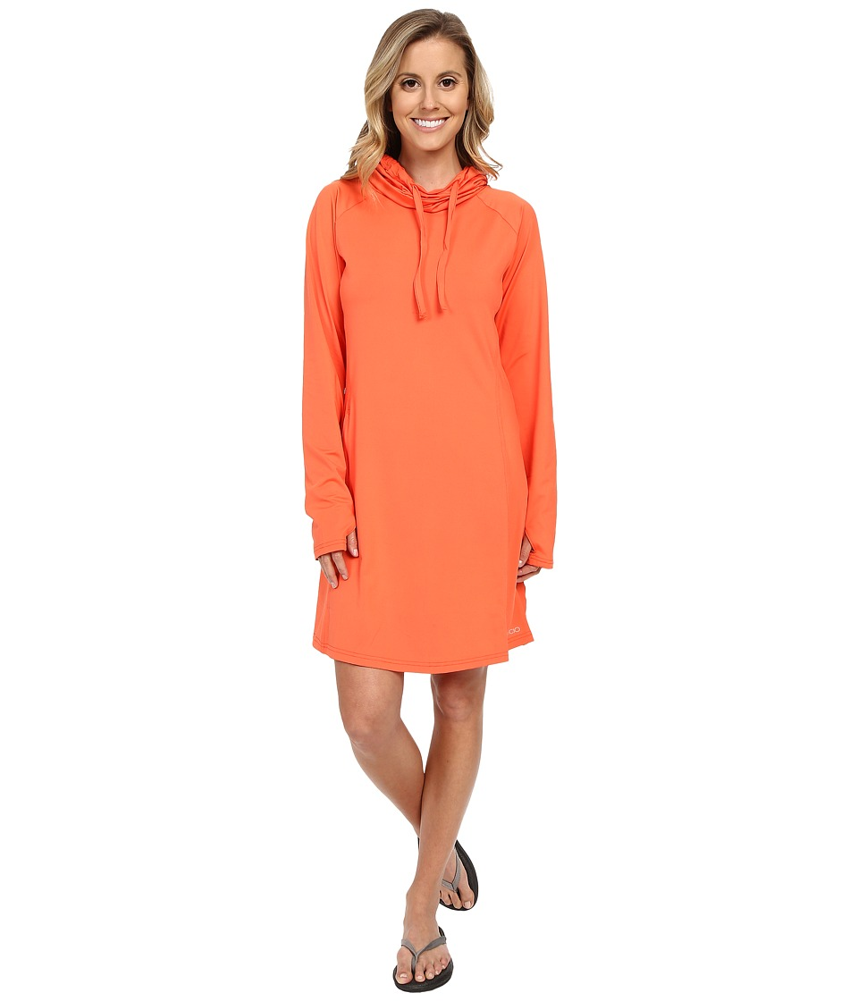 ExOfficio - Sol Cool Hoodie Dress (Hot Coral) Women's Dress