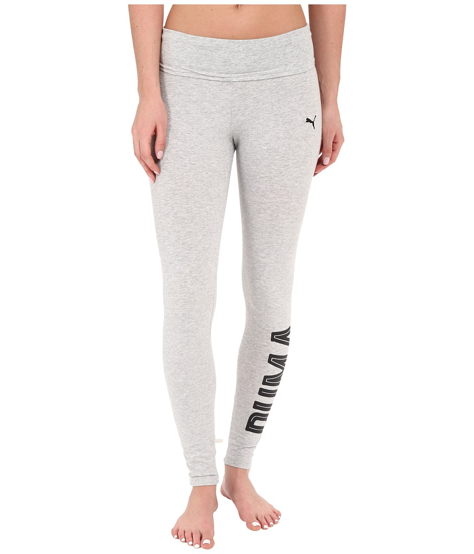 PUMA Style Swagger Leggings (Light Gray Heather) Women