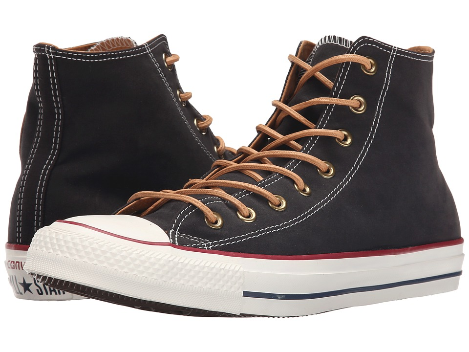 Converse - Chuck Taylor All Star Peached Canvas Hi (Black/Biscuit/Egret) Lace up casual Shoes