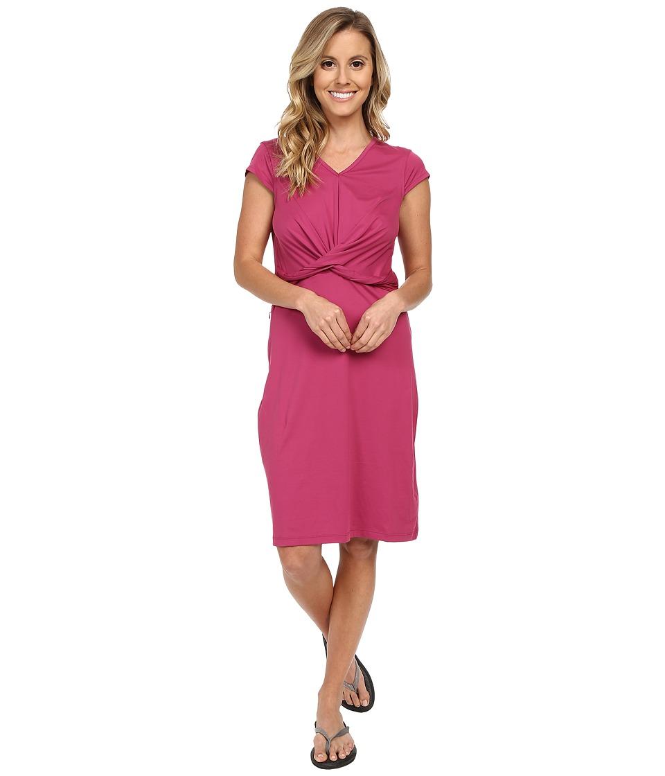 ExOfficio Wanderluxtm Twist Dress (Mulberry) Women