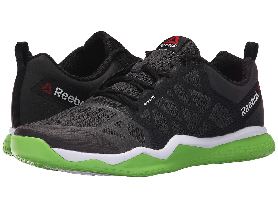 Reebok - ZPrint Train (Coal/Black/Solar Green/White) Men's Cross Training Shoes
