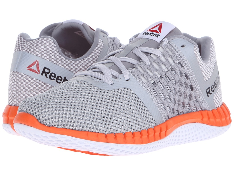 Reebok - ZPrint Run (Tin Grey/Steel/White/Electric Peach/Silver Metallic) Women's Running Shoes