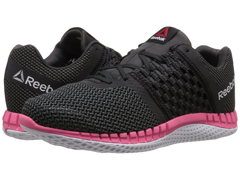 Reebok - ZPrint Run (Black/Gravel/Solar Pink/Black Reflective/White/Coal) Women's Running Shoes