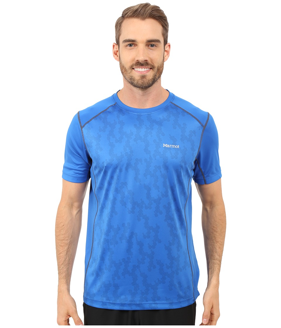 Marmot - Elevate Short Sleeve (True Blue) Men's Short Sleeve Pullover