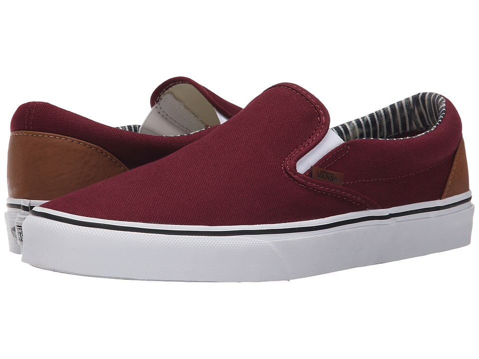 Vans - Classic Slip-On ((C&L) Port Royale/Stripe Denim) Skate Shoes
