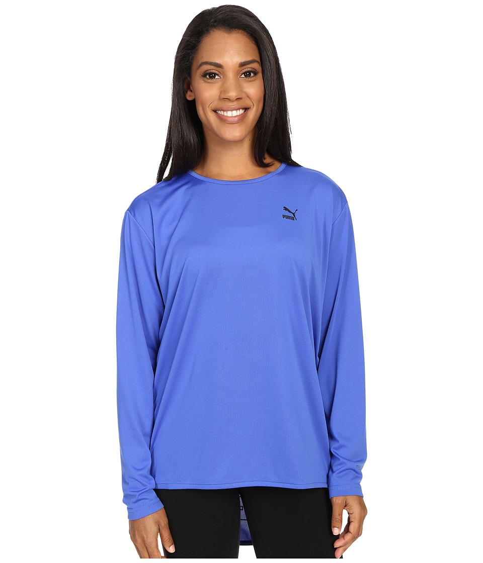 PUMA - Print Long Sleeve Top (Dazzling Blue) Women's Long Sleeve Pullover