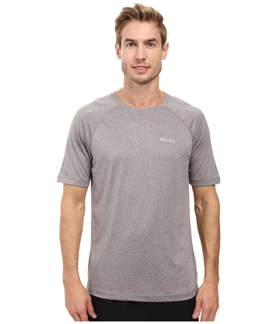Marmot - Accelerate Short Sleeve (Steel Heather) Men's Clothing