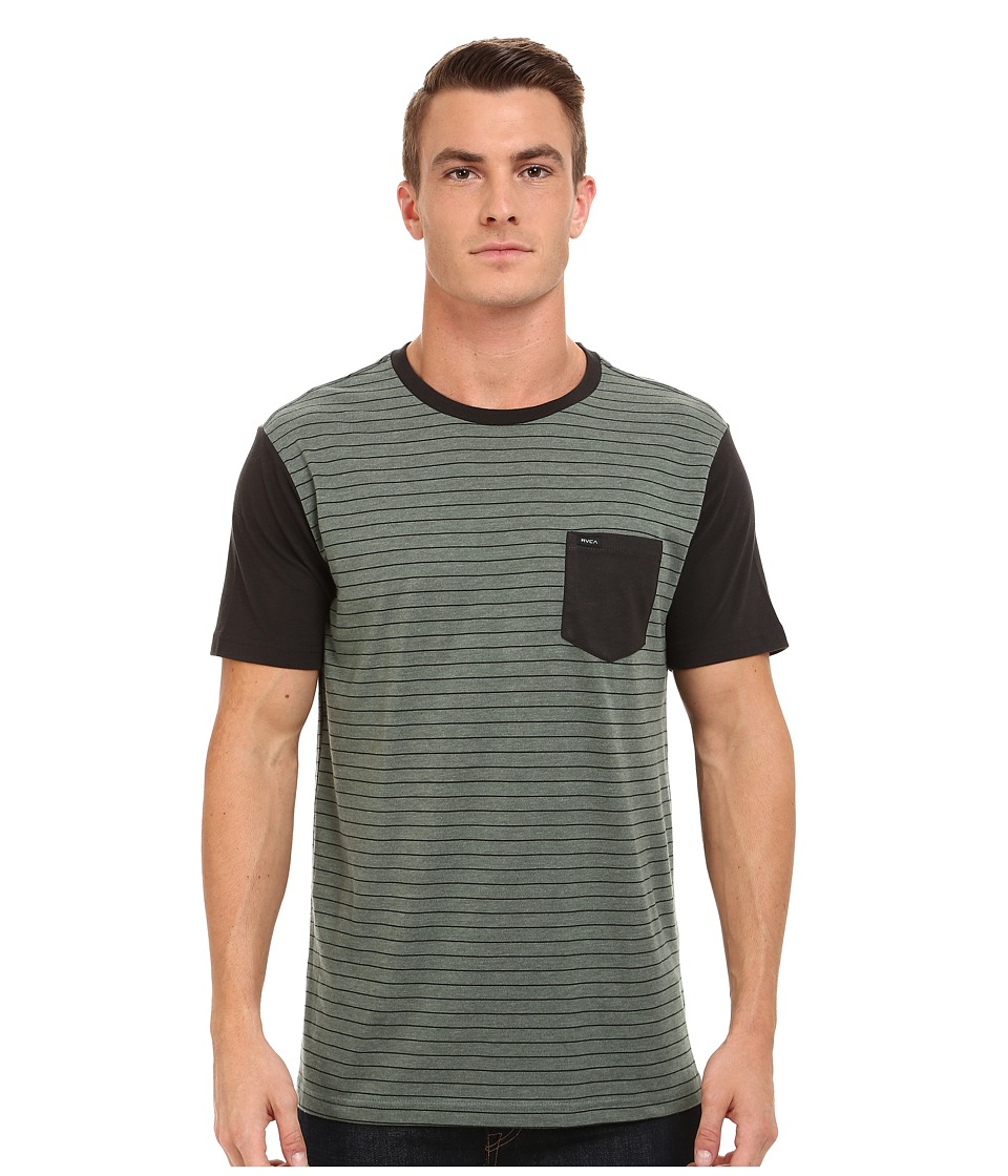 RVCA - Change Up Knit (Militia) Men's Short Sleeve Pullover