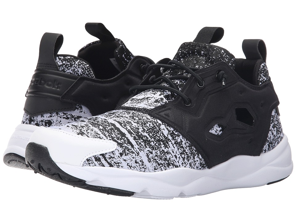 Reebok - Furylite JF (Black/White) Men's Lace up casual Shoes