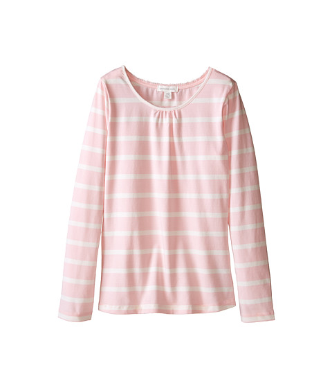 Pumpkin Patch Kids - Core Essentials Stripe Crew Neck Top (Little Kids/Big Kids) (Orchid Pink) Girl's Clothing