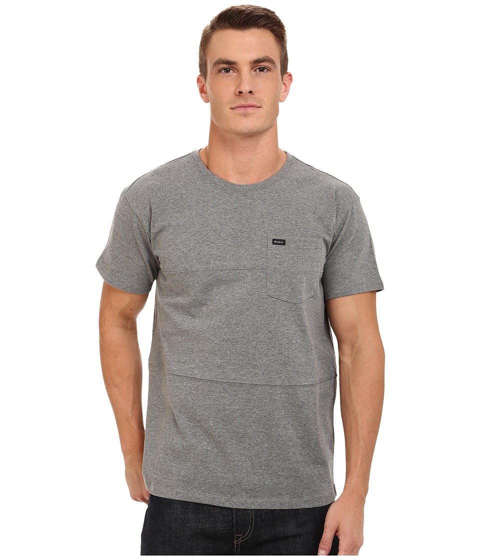 RVCA - Cut Up Crew (Grey Noise) Men's Clothing