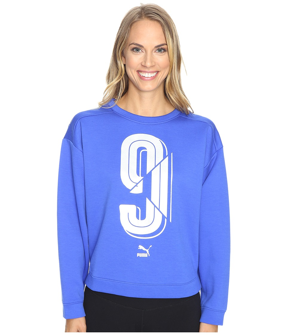 PUMA - Number 9 Crew Sweater (Dazzling Blue) Women's Sweater