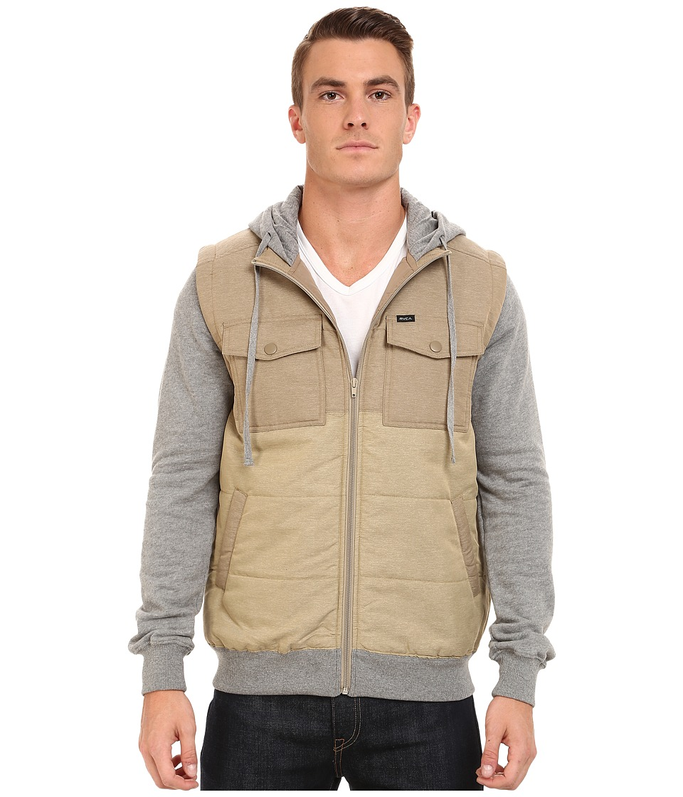 RVCA - Puffer Wayward Jacket (Dark Khaki) Men