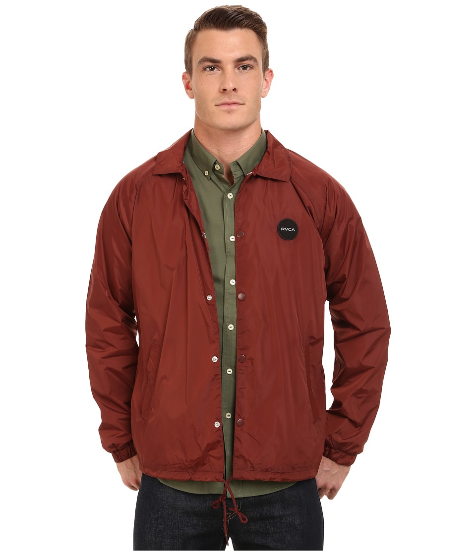 RVCA - Motors Coaches Jacket (Red Earth) Men