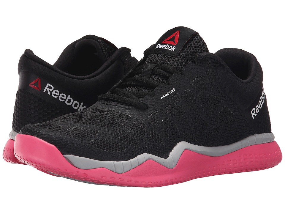 Reebok - ZPrint Train (Black/Solar Pink/Steel) Women's Cross Training Shoes