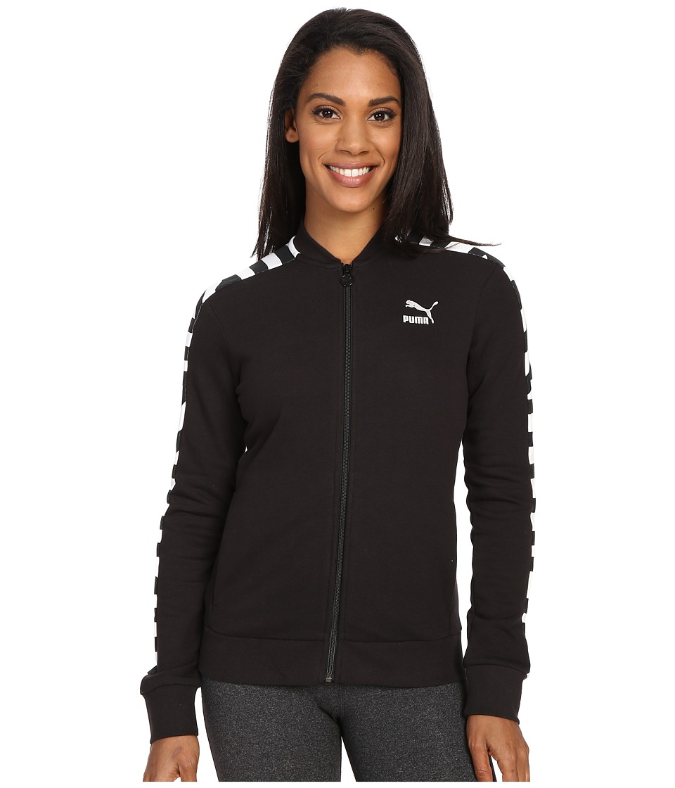 PUMA - AOP Track Jacket B (Black) Women's Jacket