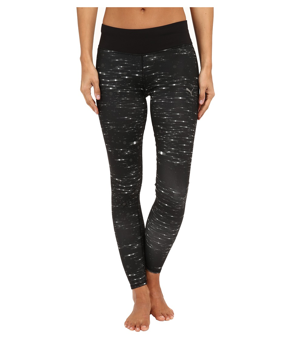 PUMA - Nightcat Long Tights (Reflective Silver/Black) Women's Workout