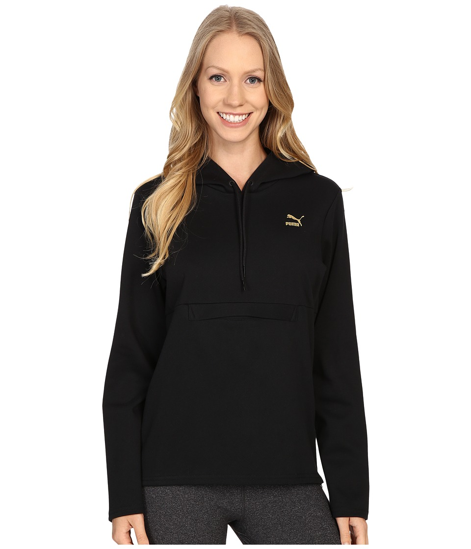 PUMA - Print Hoodie (Black) Women's Sweatshirt