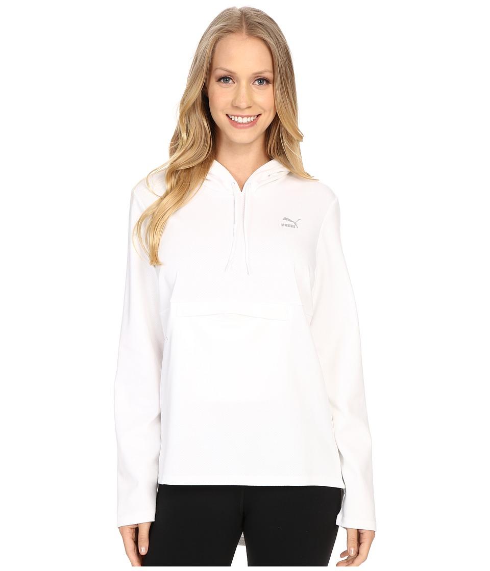 PUMA - Print Hoodie (White) Women's Sweatshirt