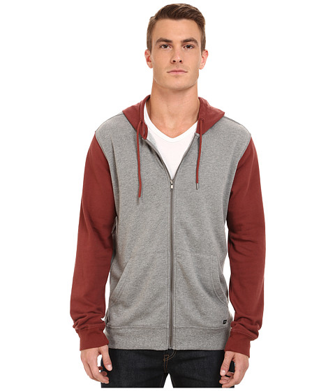 RVCA - Crucial II Zip Fleece (Grey Noise) Men