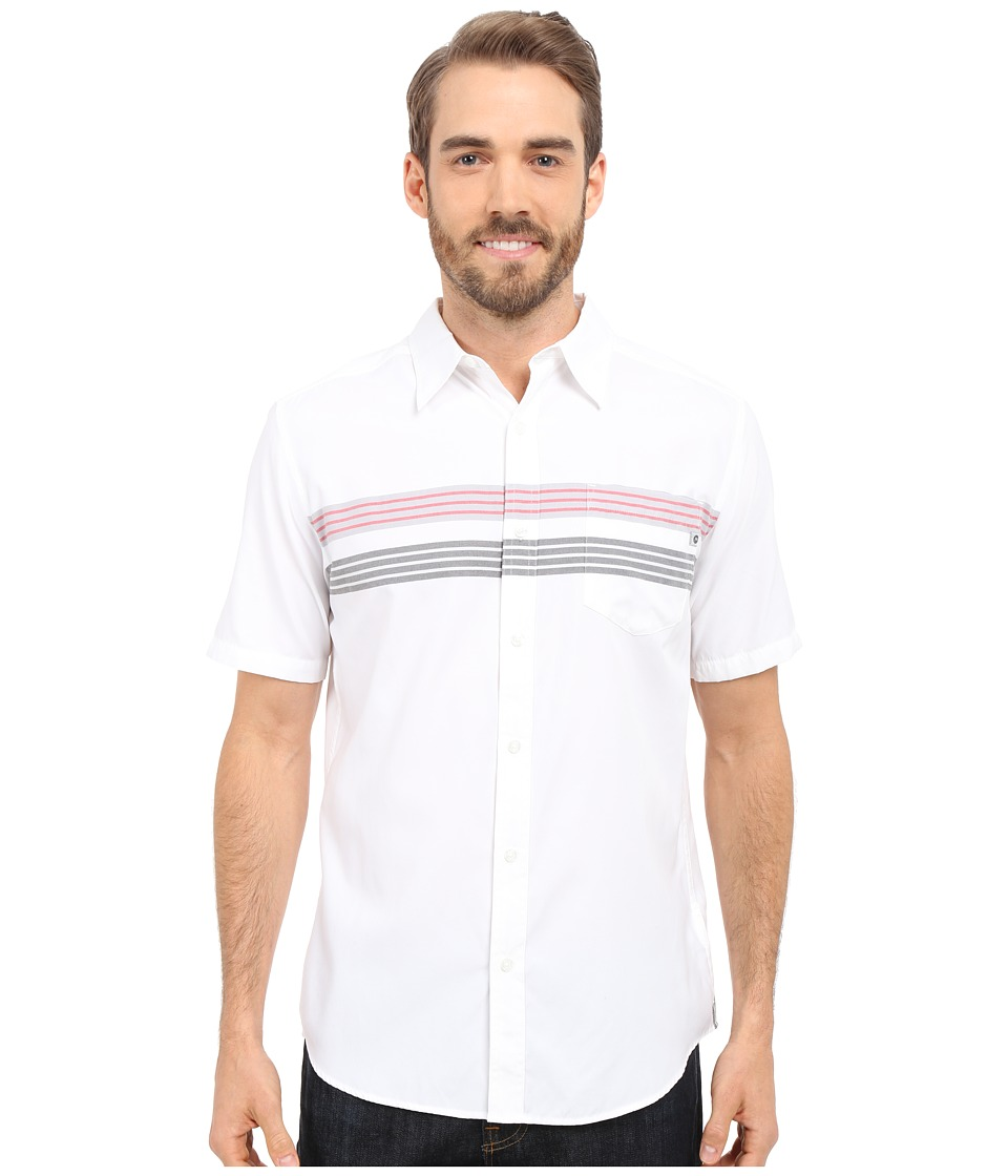 Marmot - Vista Short Sleeve (White) Men's Short Sleeve Button Up
