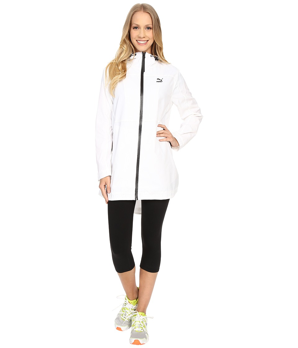 PUMA - Long Windrunner (White) Women's Coat