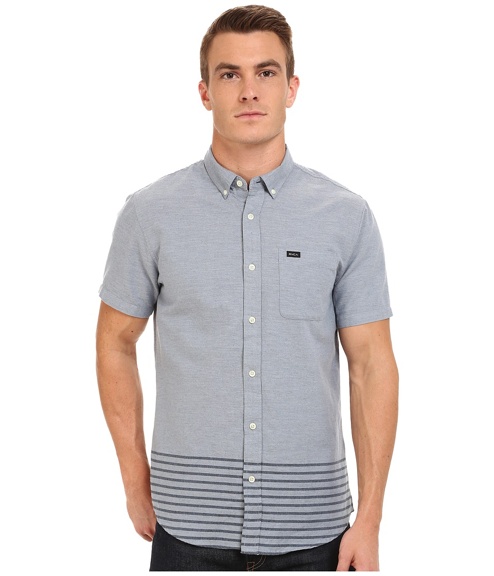 RVCA - That'll Do Layers Short Sleeve (Blue Grey) Men's Short Sleeve Button Up