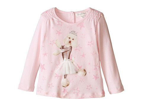 Pumpkin Patch Kids - Dance Academy Poodle Print Top (Infant/Toddler/Little Kids) (Rose Water) Girl