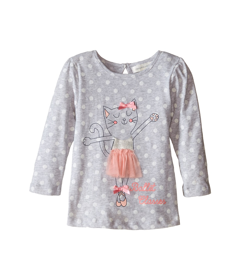 Pumpkin Patch Kids - Urban Folk Tutu Cat Top (Infant/Toddler/Little Kids) (Cool Grey Marle) Girl's Clothing