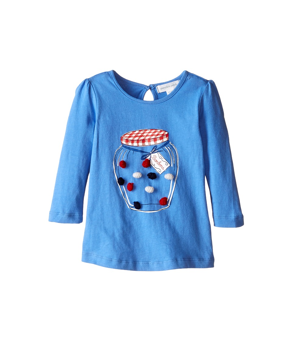 Pumpkin Patch Kids - Urban Folk Sweet Jar Top (Infant/Toddler/Little Kids) (Cornflower Blue) Girl's Clothing