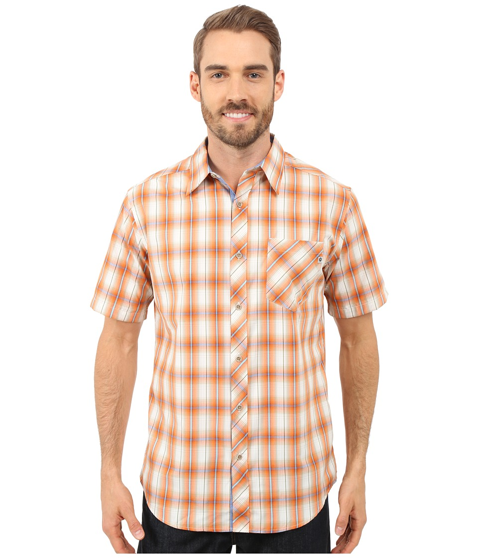 Marmot - Ridgecrest Short Sleeve (Warm Orange) Men's Short Sleeve Button Up