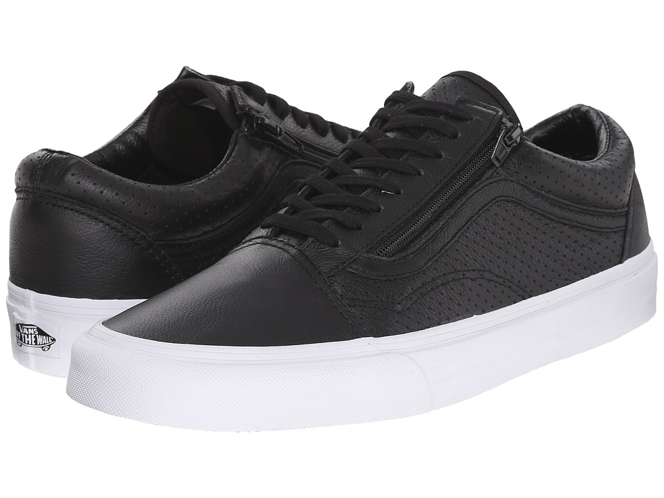 Vans Old Skool Zip ((Perf Leather) Black) Lace up casual Shoes