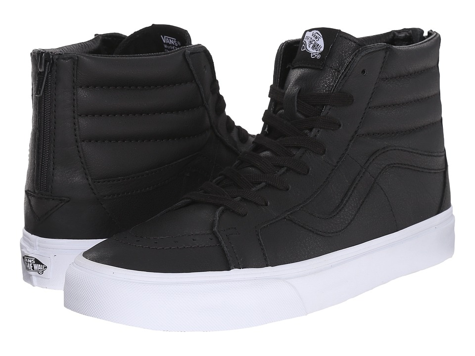 Vans SK8-Hi Reissue Zip ((Premium Leather) Black/True White) Lace up casual Shoes