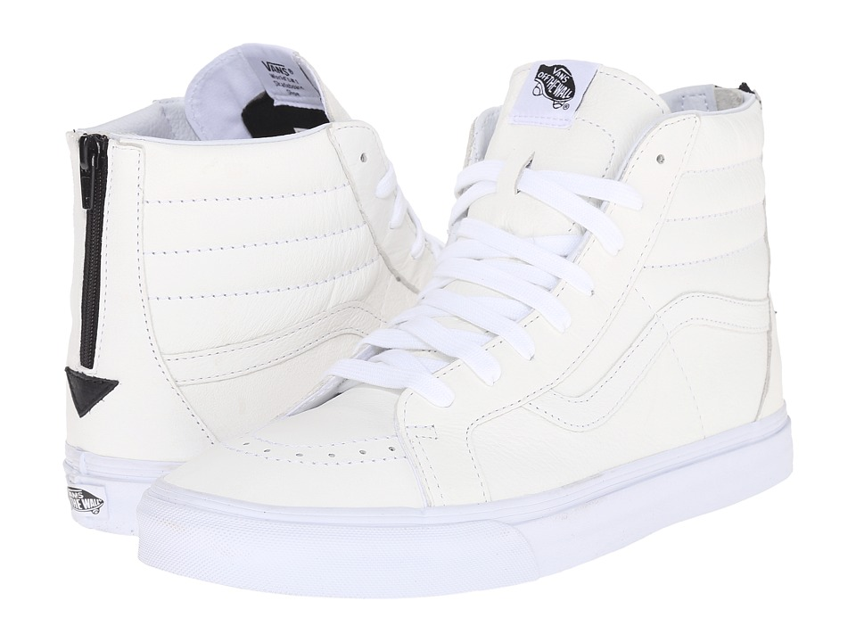 Vans - SK8-Hi Reissue Zip ((Premium Leather) True White/Black) Lace up casual Shoes