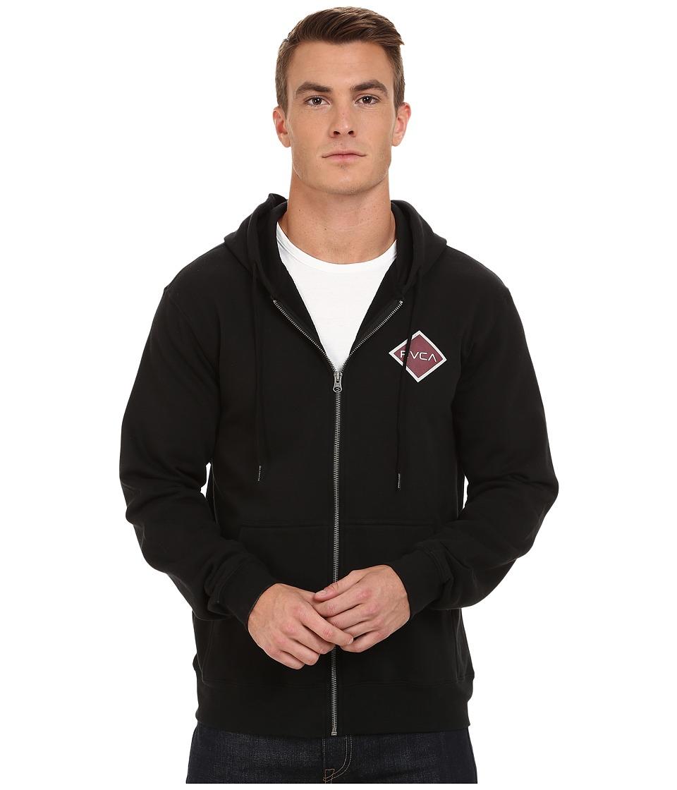 RVCA - Matchbook Fleece (Black) Men's Fleece