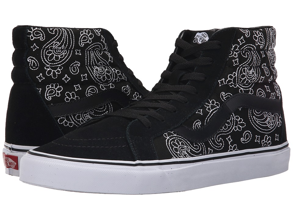 Vans SK8-Hi Reissue ((Bandana Stitch) Black/True White) Skate Shoes