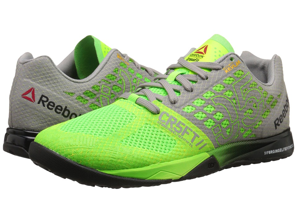 Reebok - CrossFit Nano 5.0 (Solar Green/Tin GreyBlack/Shark) Men's Cross Training Shoes