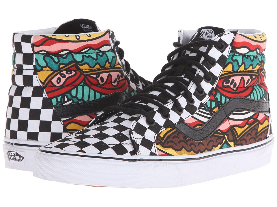 Vans - SK8-Hi Reissue ((Late Night) Burger/Check) Skate Shoes