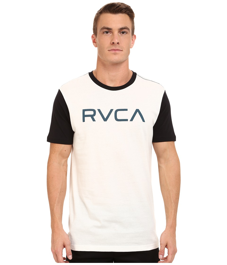 RVCA - Big RVCA Baseball Tee (White/Black) Men's T Shirt