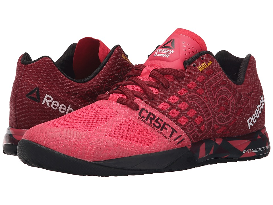 Reebok - CrossFit Nano 5.0 (Fearless Pink/Merlot/Black/Coal) Women's Cross Training Shoes