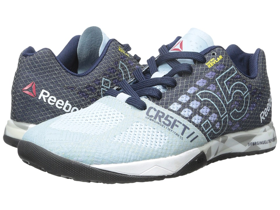 Reebok - CrossFit Nano 5.0 (Zee Blue/Collegiate Navy/White/Tin Grey/Black/Shark) Women's Cross Training Shoes