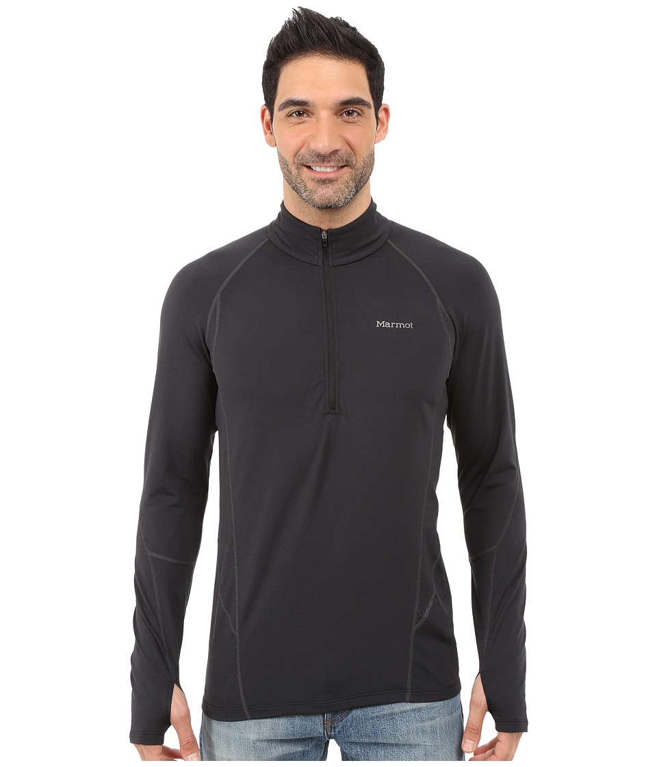 Marmot - Verve 1/2 Zip (Black) Men's Long Sleeve Pullover